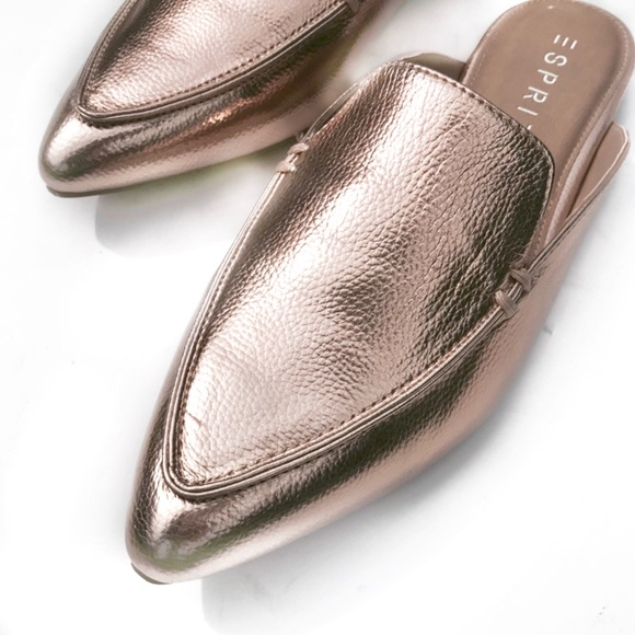 9b47abf95cfd0b NIB Esprit rose gold Mules